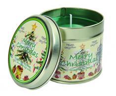SEBNINI Merry Christmas - Vela aromática en lata (tamaño estándar)