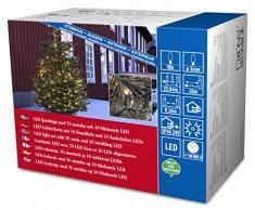 Konstsmide 3611-140 - Guirnalda de micro LED (80 diodos de luz blanca cálida, transformador exterior 24 V, 4,8 W, cable negro)