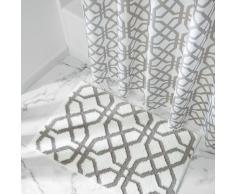 InterDesign - Trellis - Tapete de Microfibra - 86 x 53 cm - Piedra/Blanco