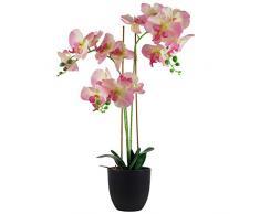 Hoja de 70 cm de orquídea Artificial, Materiales Mixtos, Materiales Combinados Materiales Mixtos., Rosa Claro, 70 cm