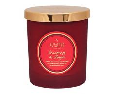 Shearer Candles color rojo y jengibre perfumada Vela en tarro con tapa de oro, rojo