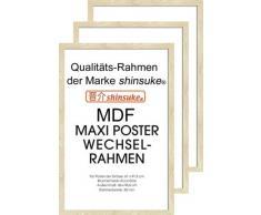 Empire Merchandising 540072 394705 - Marco para pósteres (3 unidades, 61 x 91,5 cm, tablero DM, dimensiones exteriores 96,4 x 65,8 cm), color blanco