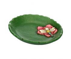 THUN - Centro de Mesa de cerámica pequeña, línea Agua Dulce, diámetro de 20 cm, Multicolor