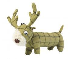 Casa de Tweed de patas Plush largo ciervo perro de juguete, color verde