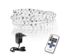 Suprema - Kit de tira LED de 10 metros, 24 W, con mando a distancia y fuente de alimentación de 24 W, luz natural 4000 K