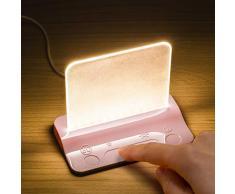 Integral - Cargador USB para mesa (2 W, carga pasada), color rosa
