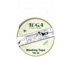 Toga MT16 Masking Tape Gabinete de Curiosités Washi Tape marfil 5,5 x 7 x 1,5 cm