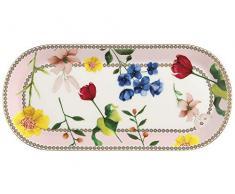 Maxwell Williams HV0029 Teas & Cs - Plato para tarta (tamaño pequeño), diseño de condesa, porcelana, Rosa rosa, 25 x 11.5 cm