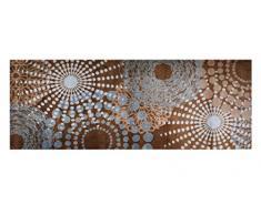Alfombrilla LifeStyle 100963 Puntos, alfombra antideslizante y lavable, ideal para el armario, la cocina o el dormitorio, 67 x 170 cm, gris / marrón