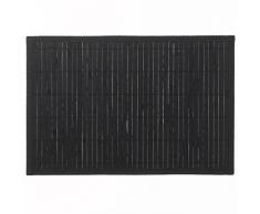 kela casa manteles Individuales, bambú, Negro, 45x 30cm