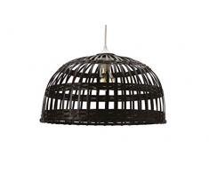 Phuket 40 - Lámpara colgante de bambú, 60 W, color negro, diámetro 40 x altura 22 cm