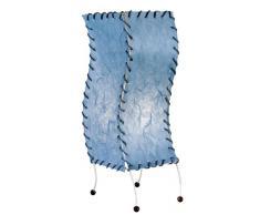 Näve Leuchten 396012 Jangste - Lámpara de mesa (1 bombilla E14 de 40 W, 19 x 14 x 38 cm), color azul