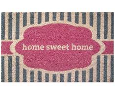 Entryways - Felpudo (43 x 71 cm, fibra de coco y base de PVC antideslizante), diseño con inscripción Home Sweet Home