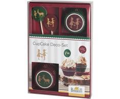 Birkmann 441217 CupCake - Juego de decoración de cupcakes, diseño de Navidad