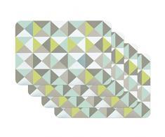 Venilia Green Salvamanteles Pirámide Vert, Mantelería, Mantel Individual para el Comedor, Apto para Alimentos, 4 tajada, 45 x 30 cm, 59044, Pyramide Grün, 30 x 45 cm