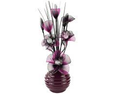 Flourish Diseño de flores de 791803-813 32 cm jarrón con Morado/Negro artificiales, morado/Morado