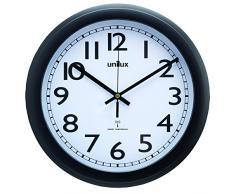 Reloj de pared unilux WAVE diámetro 30,5 cm negro