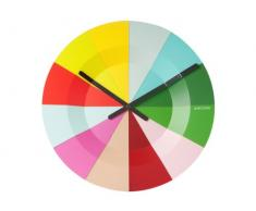 Karlsson Slices - Reloj de pared, multicolor