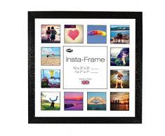 Inov8 16 x 40,64 cm Insta-Frame Marco para Instagram 13/de Estampado a Cuadros de Fotos con paspartú Blanco y Negro con Borde, Mosaic Negro
