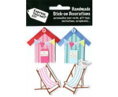 Express Yourself MIP Cubierta de casetas de playa y sillas 3d pegatinas, acrílico, multicolor, 3 piezas
