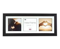 Inov8 21 x 20,32 cm Insta-Frame Marco para Instagram 3/de estampado a cuadros de fotos con paspartú blanco y blanco con borde, Ripple negro