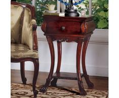 Diseño de Toscano AE1103 Loire Reloj de arena mesa auxiliar, marrón