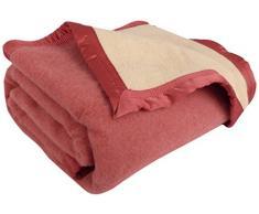 Ourson Manta de Invierno 100% Lana Virgen Pura-Oso, Rose L2/Ecru A1, 240 x 260