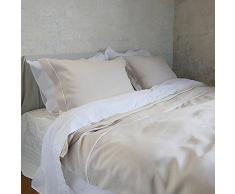 LinenMe lino funda de edredón 140 x 200 cm para cama individual infantil con mecanismo de Little Venice Cake Company, Platinum