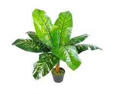 Leaf Planta Artificial de 75 cm con diseño de Hojas de Evergreen