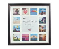 Inov8 16 x 40,64 cm Insta-Frame Marco para Instagram 13/de estampado a cuadros de fotos con paspartú blanco y blanco con borde, 2 unidades, negro y