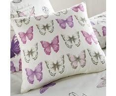 Dreams n Drapes - Cojín (43 x 43 cm), diseño de mariposas, color rosa