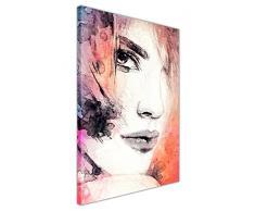 CANVAS IT UP Agua Color Café Arte Abstracto Lienzo de Pared Mujer Arte Fotos Impresiones decoración para el hogar tamaño: A1 – 34 x 24 (86 cm X 60 cm)