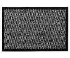Felpudo para la Entrada, Antideslizante, Lavable, Poliamida, Color:Gris, Tamaño:80 x 120 cm
