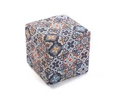 Versa Taburete Cubo Alfama Decoracion y Muebles Hogar Unisex, Multicolor (Multicolor), Talla Unica