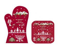 FoxTrot 8780SOMO patrones de costura para camisetas algodón de guante y para horno 20 x 20 cm rojo