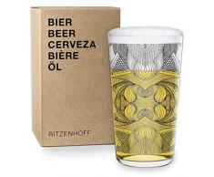 RITZENHOFF Vaso de Cerveza, Negro, 8.2 cm