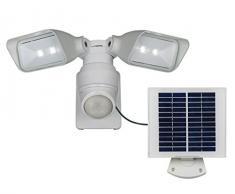 ECO de luz solar-lámpara de exterior Openy, panel solar por separado con cable de 5 M, 2-lámpara de techo, LED 4 W, IP44, de plata de P 9019 wh