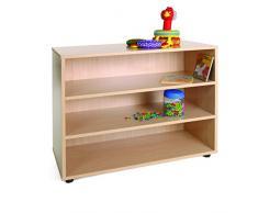 Mobeduc 600201HP18 - Mueble infantil bajo/estantería, madera, color haya, 90 x 40 x 76.5 cm