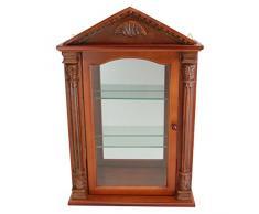 Diseño de Toscano BN2536 Essex Hall curiosidades armario de pared de madera, marrón