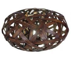 Näve Leuchten 3026414 Korb - Lámpara de mesa (30 x 50 cm, madera), color marrón