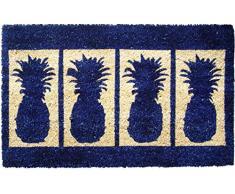 Entryways 45 x 75 cm Felpudo de fibra de coco extragruesa hecho a mano con cuatro piñas