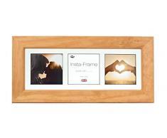 Inov8 21 x 20,32 cm Insta-Frame Catherine marco para Instagram 3/de estampado a cuadros de fotos con paspartú blanco y blanco con borde, madera de pino