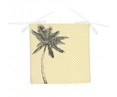 Soleil docre Cojín para Silla 40 x 40 x 5 cm PALMIER Amarillo