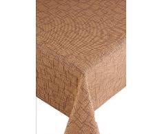 Capri Funky Ritmo - Mantel para muebles, redondo, diámetro 160 cm de Brown