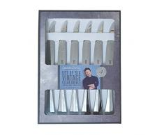 Jamie Oliver 555283 - Cuchillos para carne (acero inoxidable)