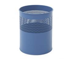 V-Part VB 270510 - Papelera cilíndrica de metal (10 L), color azul