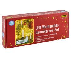 Idena Guirnalda de Mini bombillas LED inalámbricas, 10 unidades, sin cable, funciona con pilas, luz blanca cálida 8582090