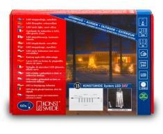 Konstsmide 4615-103 - Sistema de extensión de iluminación LED de alta tecnología (6 barras, 100 diodos de blanco cálido, efecto de nieve, 3 W)