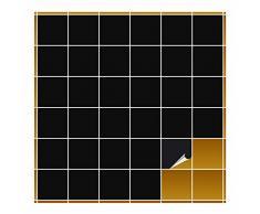 Adhesivo para azulejos para baño y cocina – 10 x 10 cm – Negro brillante – 240 adhesivos para azulejos de pared