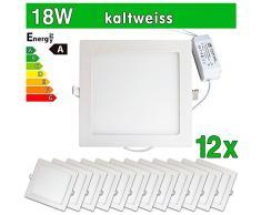 12 x SMD 2835 LEDVero funda utlrafina Panel LED 18 W de estampado a cuadros de luz blanca fría luz ultrafino para techo